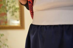 Elasticated maxi skirt beginner sewer